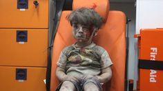 Opposition activists in Syria released a video showing a child in the back of an ambulance. The haunting image — of a quiet boy, covered in blood and dust — has captured global attention.