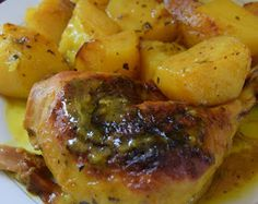 ΜΑΓΕΙΡΙΚΗ ΚΑΙ ΣΥΝΤΑΓΕΣ 2: Κοτόπουλο με πατάτες φούρνου το κάτι άλλο σε γεύση !!! Cookbook Recipes, Cooking Recipes, Appetizer Recipes, Appetizers, Greek Cooking, Greek Recipes, Chicken Recipes, Grilling, Pork