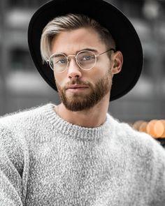 Grey Sweater, Men Dress, Hair Color, Stylish, Hair Styles, Casual, Beard Ideas, Men's Sweaters, Instagram