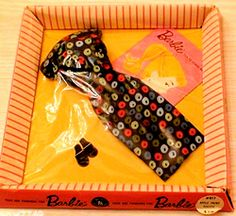 I WAS BLOCKED BY J. COLLEEN (I guess I pinned too much) I would like her to know, she can pin as much as she likes from the pins I have. This is a sharing site and I do not own any of these pins. (Barbie - Vintage Clothes) Thanks to everyone who shares pins freely. (1959-60 Barbie - Apple Sheath #917)