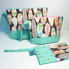 New Set, Zipper Pouch, Diaper Bag, Handmade, Bags, Design, Handbags, Hand Made, Dime Bags