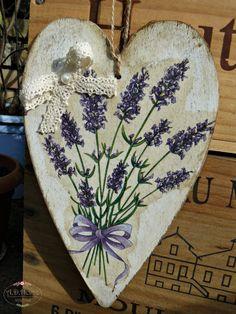 serce drewniane lawenda, hand made by A.D.Home Pracownia, rękodzieło