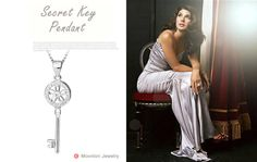"""Hot Sell 925 Sterling Silver Secret Key Pendant For The Key Of Love """" If Love Is Locked, Pls Use This Decent Key to Open It """""""