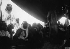 Sheikh Auda Ibn Zaal, cousin of Auda Abu Tayi, in his tent at Wejh. by TE