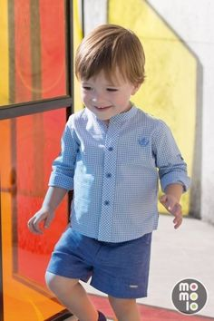 Ropa para niños: Camisas, Pantalones cortos / Shorts Toddler Boy Fashion, Little Boy Fashion, Toddler Boys, Kids Boys, Kids Fashion, Little Boy Outfits, Baby Boy Outfits, Outfits Niños, Kids Outfits