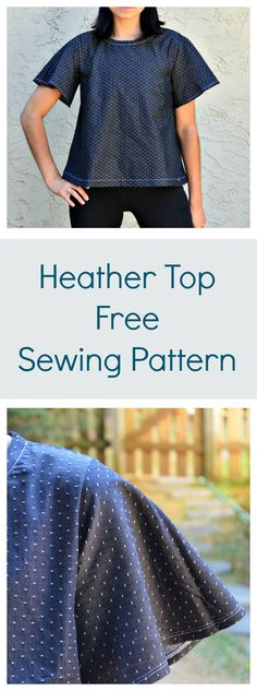 Use these sleeves for the Sorbetto! // free top pattern, free sewing pattern, heather top pattern, flared top pattern