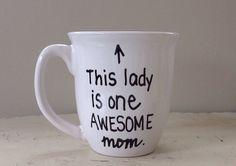 This lady is one awesome mom Mother's Day by simplymadegreetings, $13.00