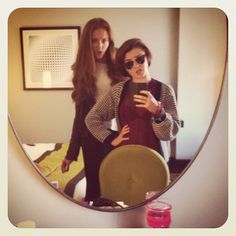 "Arya and Sansa taking a mirror pic: | ""Game Of Thrones"" Actors Doing Normal Stuff Is So Weird"