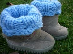 Children Boot Cuff blue color by IskaCreations, $10.00