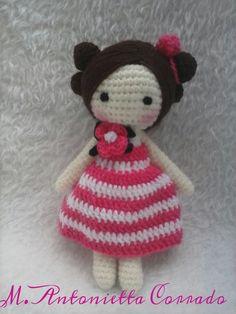 Bomboniera bambolina a uncinetto - Spiegazioni in italiano.   Cucito Creativo - Tutorial gratuiti - Idee Creative - Uncinetto - Riciclo Creativo