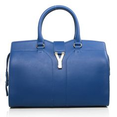 Yves Saint Laurent Cabas Chyc Bag Large 279079 Blue  YSL outlet store   Model  cd5b21590e836
