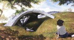 Inflated Vaults This project was part of a research studio conducted by Yasushi Ishida to investigate various methods in finding forms of vaulting shell. Flexible Molding, Vaulting, Investigations, Arch, Landscape, Studio, Inspiration, Image, Mixed Media