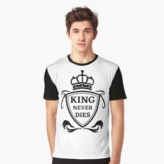 King Never Dies ! - Get yourself a funny custom desing from RIVEofficial Redbubble shop : )) .... tags: #king  #kingneverdies  #royalty #power #coatofarms # funny #humour #giftideas #crown #powerful #kingdom #findyourthing #shirtsonline #trends #riveofficial #favouriteshirts #art #style #design #nature #shopping #insidecollection #redbubble #digitalart #design #fashion #phonecases #access #customproducts #onlineshopping #accessories #shoponline #onlinestore #shoppingonline Funny Humour, Stylish Shirts, Pin Pin, Cute Tshirts, Cute Crochet, Female Models, Custom Design, King, Fashion Outfits