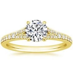 18K Yellow Gold Duet Diamond Ring from Brilliant Earth