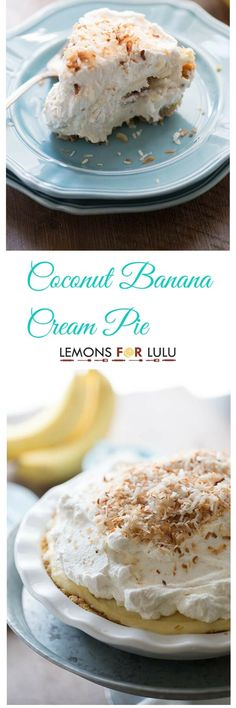 A thick, rich, creamy coconut infused banana cream pie made with roasted bananas! This is banana cream pie to an extreme! lemonsforlulu.com