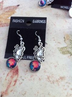 butterfly earrings sp £4 free uk post