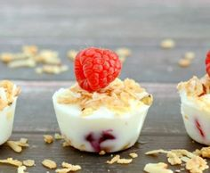 Frozen Yogurt Granola Berry Bites . . . it only takes three ingredients to make these yummy and healthy snacks. They are so refreshing during the hot summer months!