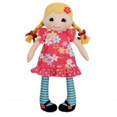 Beautiful Daisy rag doll by Tiger Tribe! Hand-crafted rag doll made from lovely soft cottons with gorgeous little dress and stockings. Packaged in a stylish gift box making the perfect gift for a little girl! Little Boo-Teek - Tiger Tribe Online Toys For Girls, Kids Toys, Kids Girls, Baby Kids, Tiger Tribe, Adairs Kids, Daisy Girl, Kids Boutique, Doll Shop