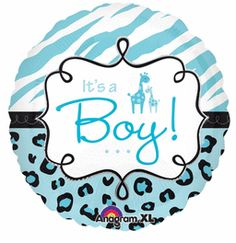 18'' Safari Baby Boy - Foil Balloon (Pack of 5)