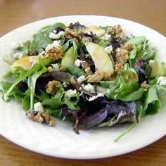 """Tangy Pear and Blue Cheese Salad   """"This is a really great recipe. I candied my nuts before adding and it made it even better. """""""