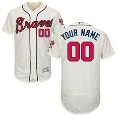 1e528ca4d Men s Personalized Stitched Atlanta Braves Authentic Alternate White  Baseball Jersey Braves Baseball