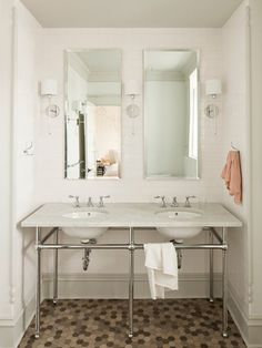 Bathroom Tile Designs Ideas : Original Bathroom Tile Jessica Helgerson Stainless Steel Vanity