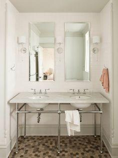 Bathroom Tile Designs Ideas : Original Bathroom Tile Jessica Helgerson Stainless Steel Vanity