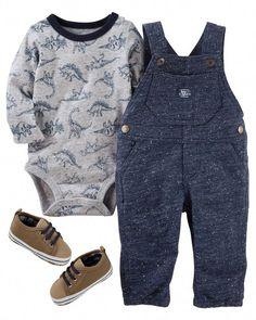 Clothing, Shoes & Accessories Brave Oshkosh B'gosh Genuine Baby Boy Distressed Denim Overalls Sz 3m