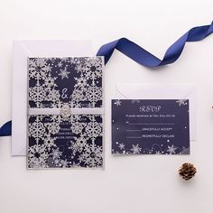 Winter Wedding Colors, Winter Bride, Winter Wedding Inspiration, Winter Formal, Wedding Ideas, Snowflake Invitations, Laser Cut Wedding Invitations, Laser Cut Invitation, Invitation Cards