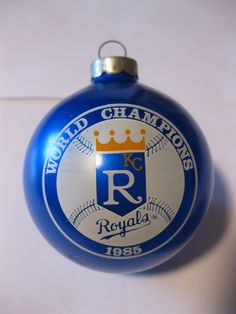 1985 World Champions Kansas City Royals Ornament- im lucky to have one of these! love it.
