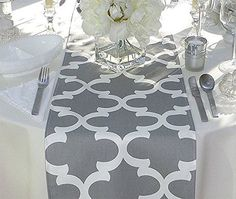 Grey and White Table Runner Appleberry Attic… Patchwork Table Runner, Table Runner And Placemats, Table Runner Pattern, Table Runners, Grey Table, Wedding Linens, Table Toppers, Couture, Table Linens