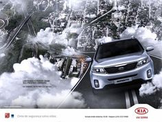 Print advertisement created by Do it, Brazil for KIA, within the category: Automotive. Creative Poster Design, Ads Creative, Brand Advertising, Advertising Poster, Poster Ads, Car Posters, Volkswagen, Car Banner, Visual Metaphor