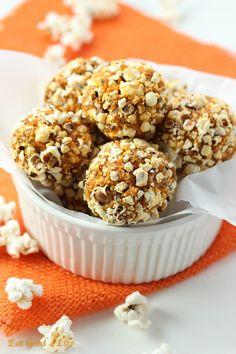 popcorn energy balls-gluten free and vegan