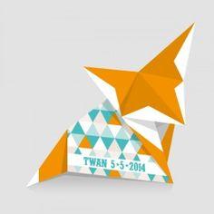 Origami geboortekaartje