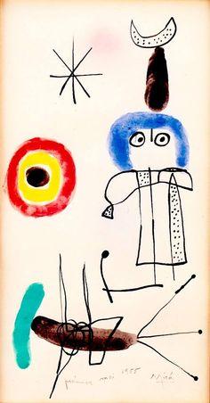 Dessin de Joan Miró, 1955
