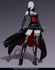 kleider zeichnen [closed] AUCTION - Outfit Adopt 1074 by CherrysDesigns on DeviantArt Drawing Anime Clothes, Dress Drawing, Clothing Sketches, Dress Sketches, Fashion Design Drawings, Fashion Sketches, Anime Outfits, Cool Outfits, Hero Costumes