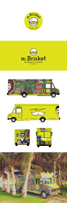 Finalist for 2017 graphic design award, 99awards. Psychedelic and organic truck design. #vehiclewrap #truckwrap #illustration