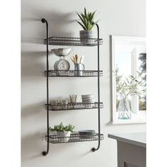 Industrial Style Metal Shelves