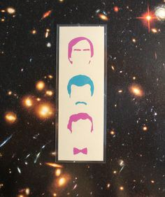 Wehave all of space and time - Papercut portrait Bookmark