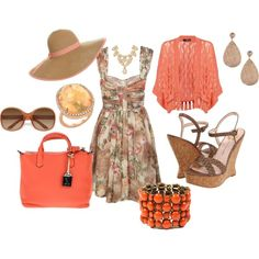 Coral dreams, created by jill-m-kalmar on Polyvore