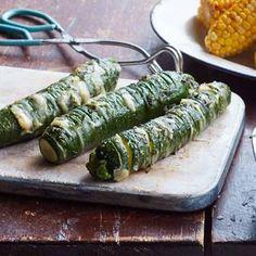 Garlic-Parmesan Hasselback Zucchini