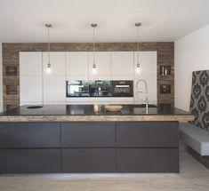 Innovation Küchen – Modern Home Office Design Workspace Design, Home Office Design, Modern Kitchen Design, Modern Interior Design, Classic Architecture, Kitchen Images, Small Room Bedroom, Office Interiors, Kitchen Storage