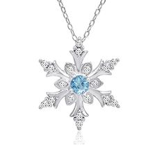 Swiss Blue and White Topaz Snowflake Pendant-Necklace in Sterling Silver (1/2ct tgw) Amanda Rose Collection http://smile.amazon.com/dp/B00P80JH42/ref=cm_sw_r_pi_dp_BDxrvb0E1X51Y