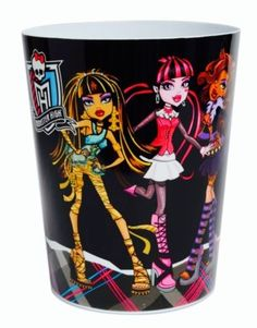 Monster High  Waste Basket Trash Can Room Decor NEW