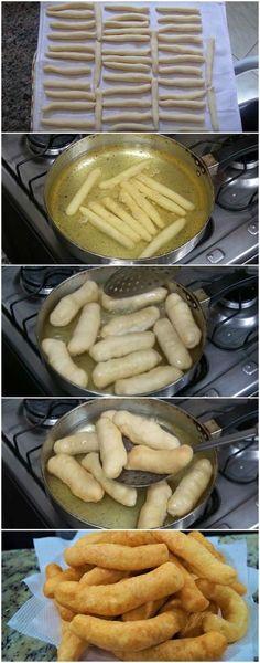 Chipa Frita Super Fácil que NÃO ESTOURA ao fritar! Fica pronta rapidinho e é uma delícia! (veja a receita passo a passo) #chipa #chipafrita #chipafacil