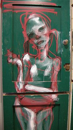 """Street art """"Lady Pink"""" by Herakut Banksy, Mural Art, Wall Art, L'art Du Portrait, Foto Gif, Arte Popular, Street Art Graffiti, Street Artists, Public Art"""