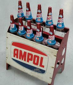 An Ampol motor oil bottle rack