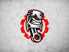 Piston logo mascot by Josip