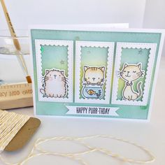 """255 Likes, 26 Comments - Nicky Meek (@nickynoocards) on Instagram: """"#coolcat #mft #mftstamps #nickynoocards #watercolor #watercolour #cardmaking #papercrafting #craft…"""""""