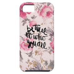 Vintage Floral Girly Pink Roses Pattern Be True iPhone 5 Covers $44.95